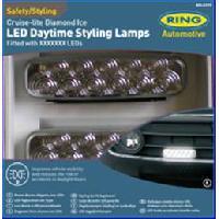 Feux diurnes - DRL 2 projecteurs Cruise Lite Diamond Ice - 11 LEDs - Ring