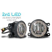 Feux diurnes - DRL Feux diurnes et antibrouillard 17 LEDs universel 90x90x93 - ADNAuto