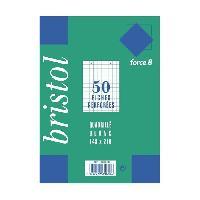 Fiche Bristol EXACOMPTA - 50 fiches Bristol blanches - 14.8 x 21 - Perforées - 5 x 5 - Papier P.E.F.C. 205G