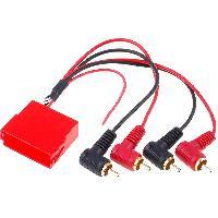 Fiche ISO Audi Adaptateur Mini-ISO 20 pin RCA compatible avec Audi A3 A4 A6 A8 TT
