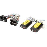 Fiche ISO BMW Adaptateur compatible avec ajout amplificateur sur systeme origine - Fakra 4 canaux et Remote compatible avec BMW Ford Mercedes Seat Skoda VW