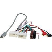 Fiche ISO Hyundai Fiche autoradio ISO AI62A vers USB RCA compatible avec Hyundai i20 H1 - Kia Ceed