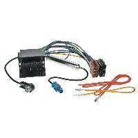 Fiche ISO Seat Faisceau ISO autoradio compatible avec Audi Seat Skoda VW avec amplificateur antenne phantom
