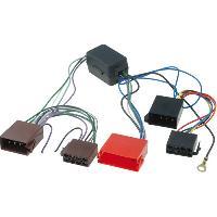 Fiche ISO Seat Fiche ISO Autoradio compatible avec Audi Seat Skoda VW avec amplificateur Mini-ISO