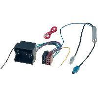 Fiche ISO Volkswagen Adaptateur ISO autoradio compatible avec VW ap02 + Adaptateur Antenne