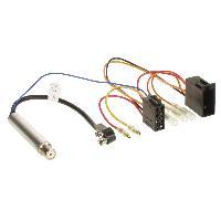 Fiche ISO Volkswagen Faisceau autoradio compatible avec Audi Seat Skoda VW avec amplificateur antenne phantom