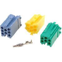 Fiche ISO installation autoradio 3x Fiches nues Mini ISO male 20PIN avec broches ADNAuto