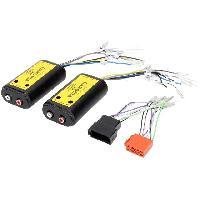 Fiche ISO installation autoradio Adaptateur ajout ampli sur systeme origine - ISO 4 canaux et Remote