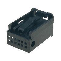 Fiche ISO installation autoradio Boitier nu compatible avec fiche Fakra male 12pin noir