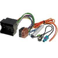 Fiches Citroen Fiche ISO Autoradio pour Citroen C2 C3 C4 C5 Peugeot ap03 avec Adaptateur antenne - ADNAuto