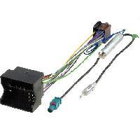 Fiches Citroen Fiche ISO autoradio pour Citroen C2 C3 C4 C5 Peugeot ap03 + Adaptateur Antenne - ADNAuto