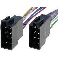 Fiches Universelles 2x Fiches autoradio ISO 8PIN fils nus