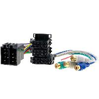 Fiches Universelles Fiche autoradio ISO male 26PIN vers RCAx4 et ISO femelle 8PIN double