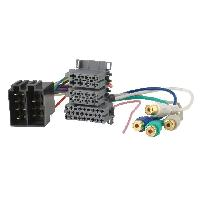 Fiches Universelles Fiche autoradio ISO male 36PIN vers RCAx4 et ISO femelle 10PIN