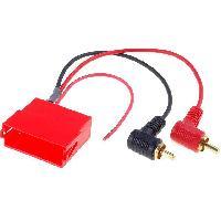 Fiches Universelles Fiche autoradio Mini ISO vers RCAx2 - ADNAuto