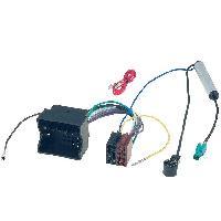 Fiches VW Fiche ISO autoradio pour VW ap02 + Adaptateur antenne - ADNAuto