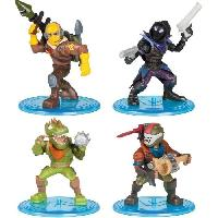 Figurine - Personnage Miniature FORTNITE Battle Royale - Pack Squad 4 Figurines - Asmodee