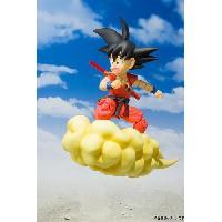 Figurine - Personnage Miniature Figurine Figuarts Dragon Ball- Kid Goku On Nimbus