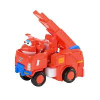 Figurine - Personnage Miniature SUPER WINGS Vehicule Transformable 18 cm - Jett's Robo Rig