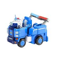 Figurine - Personnage Miniature SUPER WINGS Vehicule Transformable 18 cm - Paul's Cruiser