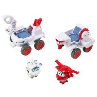 Figurine - Personnage Miniature SUPER WINGS Vehicules connectables Astra's Moon Rover + 2 Transform'a'bot - Astra-Jett