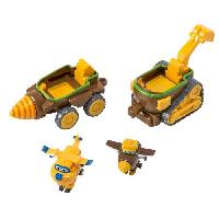 Figurine - Personnage Miniature SUPER WINGS Vehicules connectables Todd's Dig Rig + 2 Transform'a'bot - Todd-Donnie