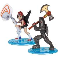 Figurine Miniature - Personnage Miniature FORTNITE Battle Royale - Pack Duo Figurines 5cm - Black Knight et Triple Threat - Asmodee