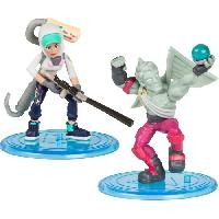 Figurine Miniature - Personnage Miniature FORTNITE Battle Royale - Pack Duo Figurines 5cm - Love Ranger et Teknique - Asmodee