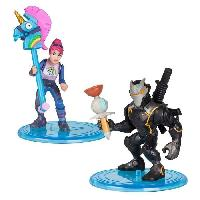Figurine Miniature - Personnage Miniature FORTNITE Battle Royale - Pack Duo Figurines 5cm - Omega et Brite Bomber - Asmodee