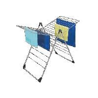 Fil A Linge - Tancarville - Etendoir - Sac De Sechage AUTOMATIC Sechoir sur pieds 20 m - Argent
