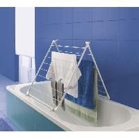 Fil A Linge - Tancarville - Etendoir - Sac De Sechage CERVINO Sechoir baignoire 10 m - Blanc