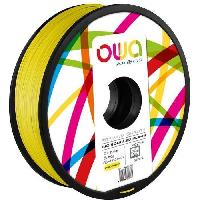 Fil Pour Imprimante 3d OWA Bobine de Filaments pour imprimante 3D - PLA Hi - Jaune