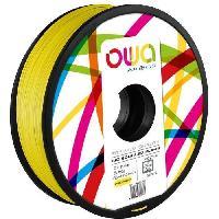 Fil Pour Imprimante 3d OWA Bobine de Filaments pour imprimante 3D - PLA Hi - Jaune - Armor