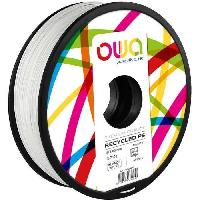 Fil Pour Imprimante 3d OWA Bobine de Filaments pour imprimante 3D - PS- Blanc