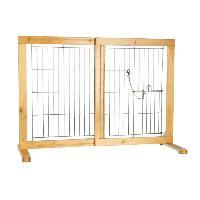 Filet - Grille  De Protection Barriere pour chiens 61-103 D 75 D 40 cm - Trixie