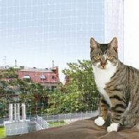 Filet - Grille  De Protection Filet de protection chat 6x3 m transparent