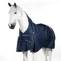 Filet De Protection Anti-oiseaux Masque anti-mouches pour chevaux Cayman - Taille XL - Bleu