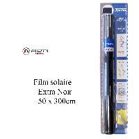 Films Solaires Universels Film solaire - Noir Fonce - 50x300cm - ADNAuto