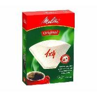 Filtre A Cafe Jetable 100 filtres a cafe 1x4 Blanc