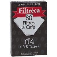 Filtre A Cafe Jetable 80 filtres a cafe 1x4 Brun