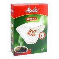 Filtre A Cafe Jetable MELITTA 102 filtres a cafe Blanc