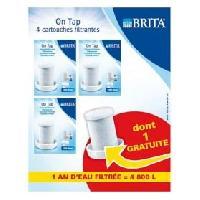 Filtre Pour Carafe Filtrante BRITA Pack 4 cartouches pour filtre sur robinet ON TAP
