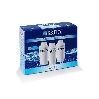 Filtre Pour Carafe Filtrante BRITA Pack de 3 cartouches filtratantes Classic blanc