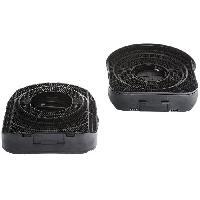 Filtre Pour Hotte ELECTROLUX 942121987 - Filtre a charbon type 200 - Absorbe les odeurs - Lot de 2 pieces