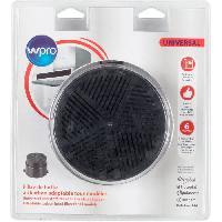 Filtre Pour Hotte WPRO UNF001 Filtre de hotte a charbon universel (adaptable tous modeles) - Diametre 153 mm - Auto-extinguible