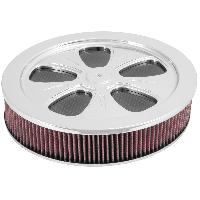 Filtre air universel Filtre air de remplacement - universel - 5 Spoke round design 14p OD 3-34pH rise base kit - 66-5100 K&N