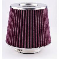 Filtre air universel Kit Admission Direct universel - 4 Bagues - Rouge