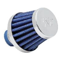 Filtre de reniflard Filtre reniflard universel - Bleu et Chrome - Diametre entree 10mm