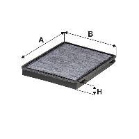 Filtres Habitacle Filtre d habitacle Wix WP2031 compatible avec Chevrolet - Opel