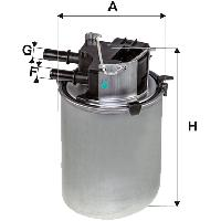 Filtres a Essence Filtre Carburant WIX WF8498 compatible Nissan Qashqai